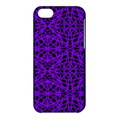 Black And Purple String Art Apple Iphone 5c Hardshell Case by Khoncepts