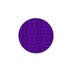 Black And Purple String Art Golf Ball Marker (4 Pack) by Khoncepts