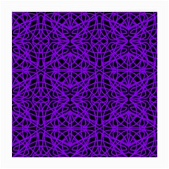 Black And Purple String Art Glasses Cloth (medium) by Khoncepts