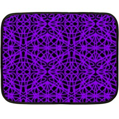 Black And Purple String Art Mini Fleece Blanket(two Sides) by Khoncepts
