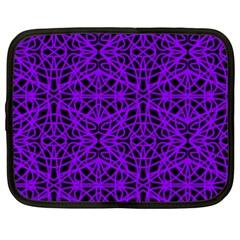 Black And Purple String Art Netbook Case (xxl)