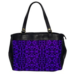 Black And Purple String   7200x7200 Oversize Office Handbag (one Side)
