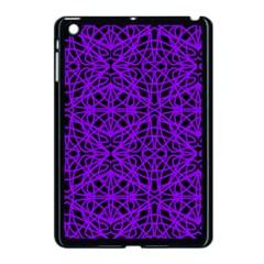 Black And Purple String Art Apple Ipad Mini Case (black)