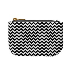 Black And White Zigzag Coin Change Purse by Zandiepants
