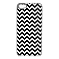 Black And White Zigzag Apple Iphone 5 Case (silver) by Zandiepants