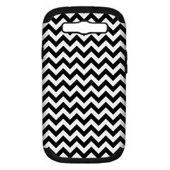 Black And White Zigzag Samsung Galaxy S Iii Hardshell Case (pc+silicone) by Zandiepants