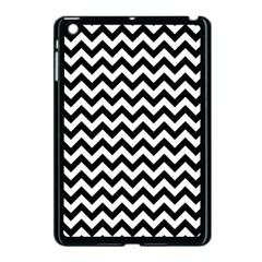 Black And White Zigzag Apple Ipad Mini Case (black) by Zandiepants
