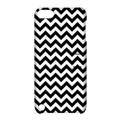 Black And White Zigzag Apple iPod Touch 5 Hardshell Case with Stand by Zandiepants