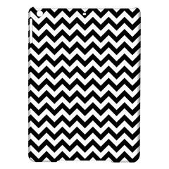 Black And White Zigzag Apple Ipad Air Hardshell Case by Zandiepants