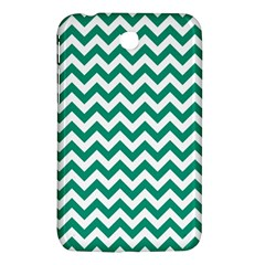 Emerald Green And White Zigzag Samsung Galaxy Tab 3 (7 ) P3200 Hardshell Case  by Zandiepants