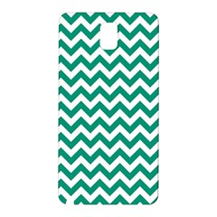 Emerald Green And White Zigzag Samsung Galaxy Note 3 N9005 Hardshell Back Case by Zandiepants