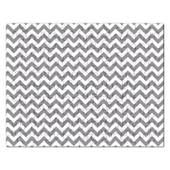 Grey And White Zigzag Jigsaw Puzzle (rectangle) by Zandiepants