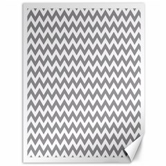 Grey And White Zigzag Canvas 36  x 48  (Unframed) by Zandiepants