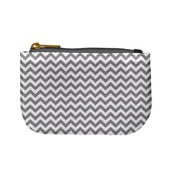 Grey And White Zigzag Coin Change Purse by Zandiepants
