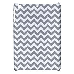 Grey And White Zigzag Apple Ipad Mini Hardshell Case by Zandiepants
