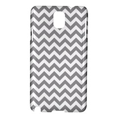 Grey And White Zigzag Samsung Galaxy Note 3 N9005 Hardshell Case by Zandiepants