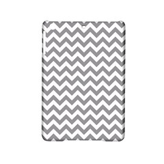 Grey And White Zigzag Apple iPad Mini 2 Hardshell Case by Zandiepants
