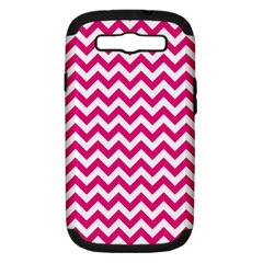 Hot Pink And White Zigzag Samsung Galaxy S Iii Hardshell Case (pc+silicone) by Zandiepants