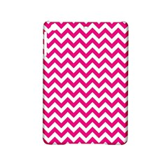 Hot Pink And White Zigzag Apple iPad Mini 2 Hardshell Case by Zandiepants