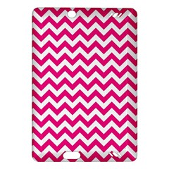 Hot Pink And White Zigzag Kindle Fire Hd 7  (2nd Gen) Hardshell Case by Zandiepants