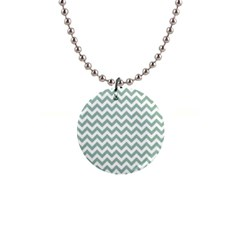 Jade Green And White Zigzag Button Necklace