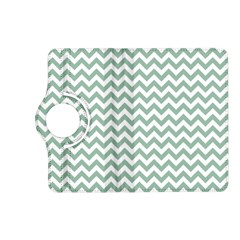 Jade Green And White Zigzag Kindle Fire Hd 7  (2nd Gen) Flip 360 Case