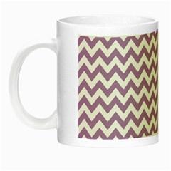 Lilac And White Zigzag Glow In The Dark Mug by Zandiepants