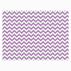 Lilac And White Zigzag Canvas 36  X 48  (unframed) by Zandiepants