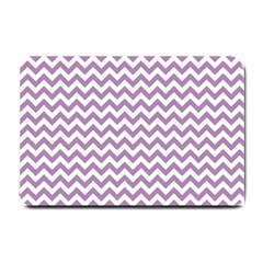 Lilac And White Zigzag Small Door Mat by Zandiepants