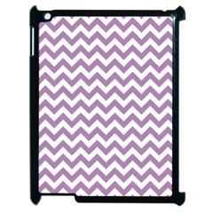 Lilac And White Zigzag Apple Ipad 2 Case (black) by Zandiepants