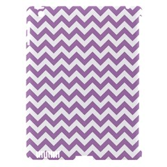Lilac And White Zigzag Apple Ipad 3/4 Hardshell Case (compatible With Smart Cover) by Zandiepants
