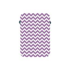 Lilac And White Zigzag Apple Ipad Mini Protective Sleeve by Zandiepants