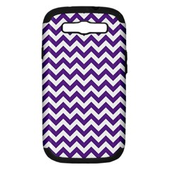 Purple And White Zigzag Pattern Samsung Galaxy S Iii Hardshell Case (pc+silicone) by Zandiepants
