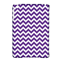 Purple And White Zigzag Pattern Apple Ipad Mini Hardshell Case (compatible With Smart Cover) by Zandiepants