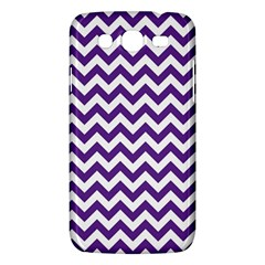 Purple And White Zigzag Pattern Samsung Galaxy Mega 5 8 I9152 Hardshell Case  by Zandiepants