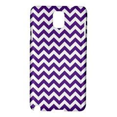 Purple And White Zigzag Pattern Samsung Galaxy Note 3 N9005 Hardshell Case by Zandiepants