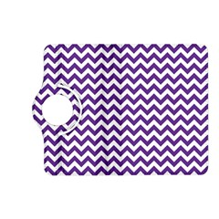 Purple And White Zigzag Pattern Kindle Fire Hd 7  (2nd Gen) Flip 360 Case by Zandiepants