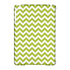 Spring Green And White Zigzag Pattern Apple Ipad Mini Hardshell Case (compatible With Smart Cover) by Zandiepants