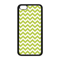 Spring Green And White Zigzag Pattern Apple Iphone 5c Seamless Case (black) by Zandiepants