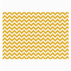 Sunny Yellow And White Zigzag Pattern Glasses Cloth (large) by Zandiepants