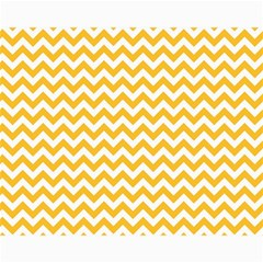Sunny Yellow And White Zigzag Pattern Canvas 11  x 14  (Unframed) by Zandiepants
