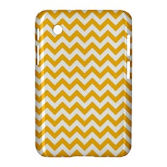 Sunny Yellow And White Zigzag Pattern Samsung Galaxy Tab 2 (7 ) P3100 Hardshell Case  by Zandiepants