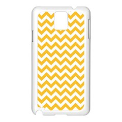 Sunny Yellow And White Zigzag Pattern Samsung Galaxy Note 3 N9005 Case (white)