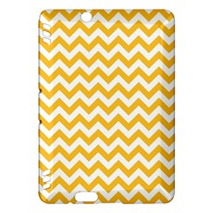 Sunny Yellow And White Zigzag Pattern Kindle Fire Hdx 7  Hardshell Case by Zandiepants