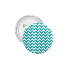 Turquoise And White Zigzag Pattern 1 75  Button by Zandiepants