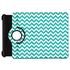 Turquoise And White Zigzag Pattern Kindle Fire Hd 7  (1st Gen) Flip 360 Case by Zandiepants