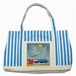 Key West tote bag - Striped Blue Tote Bag