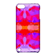 Purple, Pink And Orange Tie Dye  By Celeste Khoncepts Com Apple Ipod Touch 5 Hardshell Case With Stand by Khoncepts