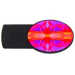 Purple, Pink And Orange Tie Dye  By Celeste Khoncepts Com 2gb Usb Flash Drive (oval) by Khoncepts