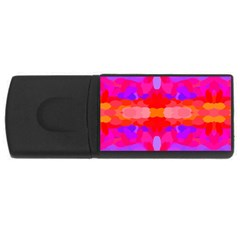 Purple, Pink And Orange Tie Dye  By Celeste Khoncepts Com 2GB USB Flash Drive (Rectangle) by Khoncepts